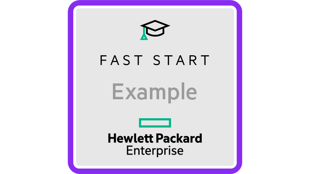 HPE Fast Start badge example